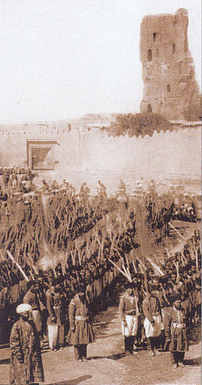 City Walls of Shakhrisabz, an old photo