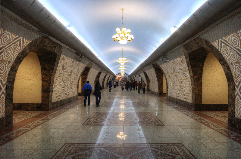 A station of Almaty Metro