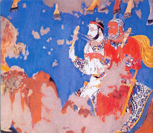 Ancient Frescos found at Samarkand Afrosiyab
