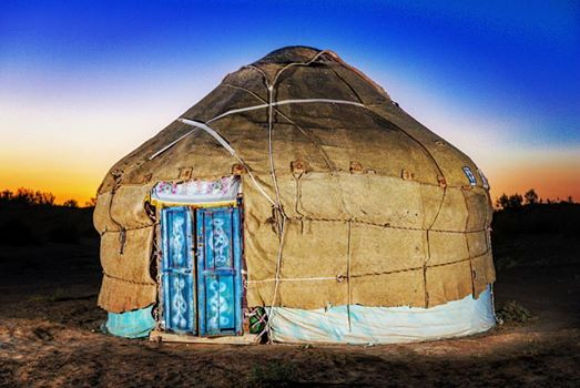 Nomadic Yurts in the Desert