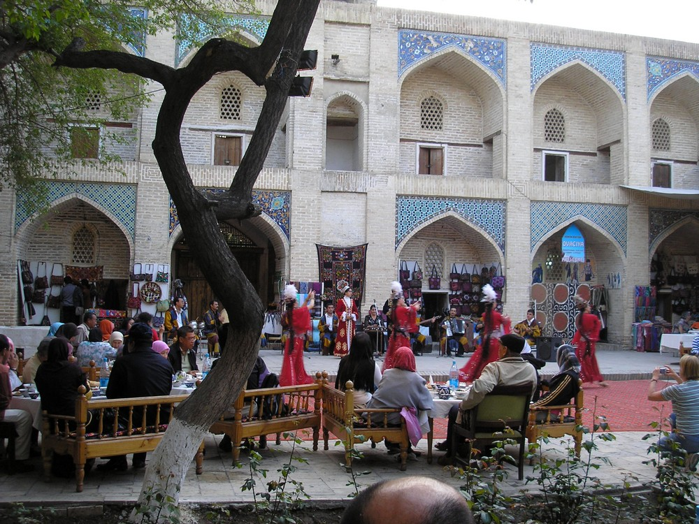Concert for tourists in Bukhara