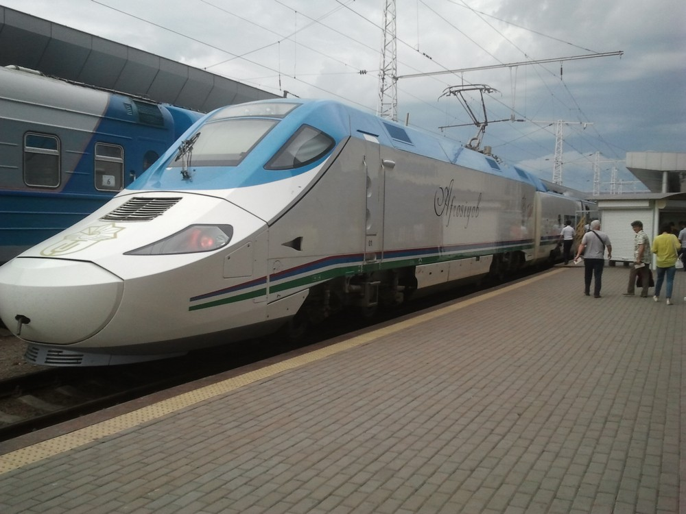 Modern Trains in Uzbekistan - Afrosyob Train to Samarkand