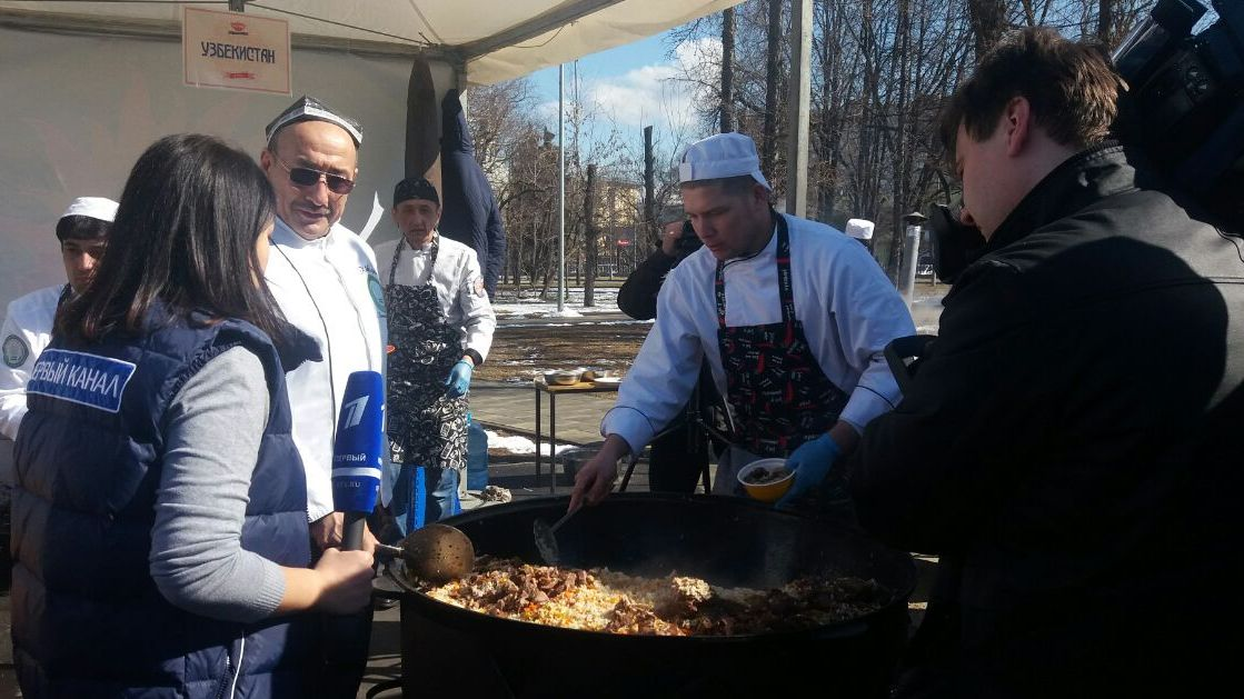 Pilaf Cooks at Moscow Exhibition